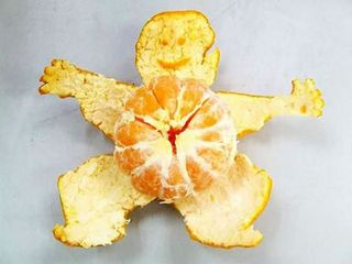 Orange-peel-man